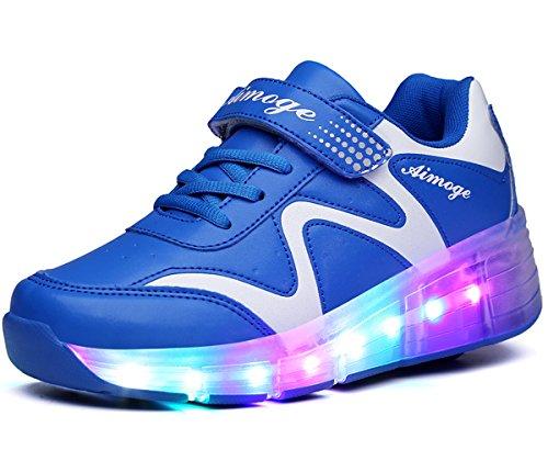 ECOTISH Unisex Wheels Shoes LED