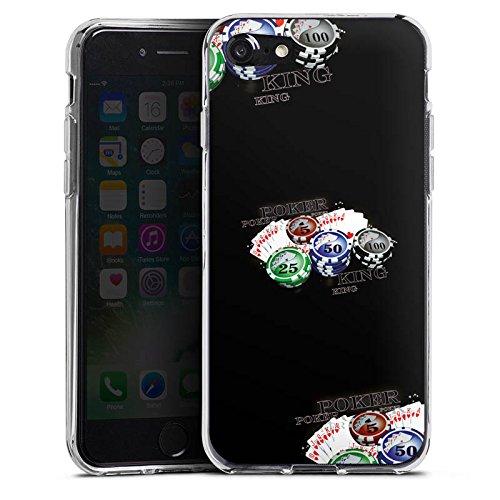Apple iPhone X Silikon Hülle Case Schutzhülle Poker Kartenspiel Casino Silikon Case transparent