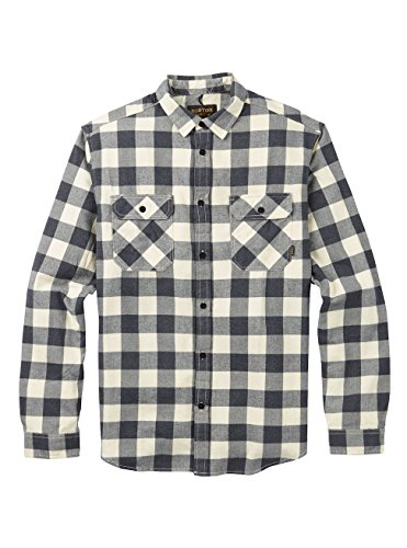 Burton Herren Brighton Flannel Hemd, Canvas Heather Buffalo, M (Shirt Lake Woven)