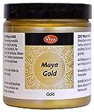 Viva Decor Maya Gold (Gold, 250 ml) Acrylfarbe mit Metallic Effekt - Malfarbe - Acryl Farben für Holz, Pappe, Beton, Papier, Leinwand UVM. - Made in Germany