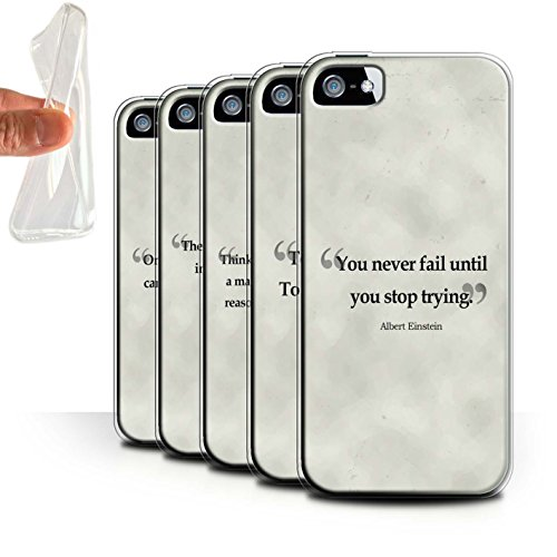 Stuff4 Gel TPU Hülle / Case für Apple iPhone SE / Henry Ford Muster / Berühmte Zitate Kollektion Pack 9pcs
