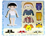 CraftDev Wooden Dress-up Boy Puzzle Shape Board Game - Learning & Educational Toys for Kids