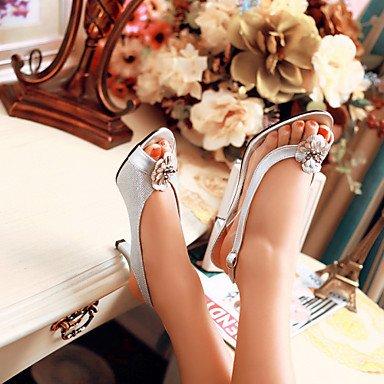 LvYuan Da donna-Sandali-Formale Casual Serata e festa-Altro-A stiletto-PU (Poliuretano)-Nero Argento Dorato Silver