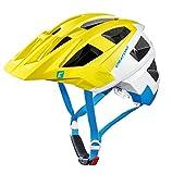 Fahrradhelm Cratoni AllSet (MTB), Gr. S/M (54-58cm) lime/weiß/blau matt