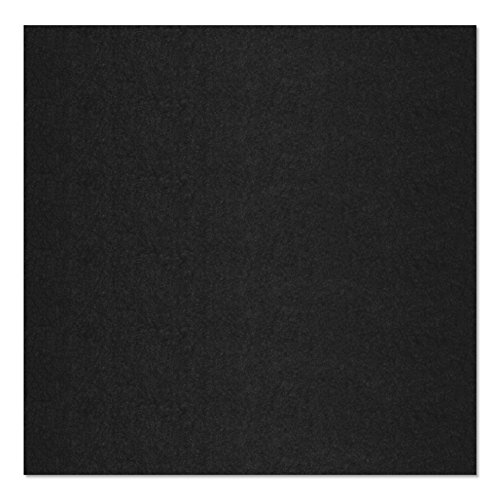 SIMON PIKE echter Filz in schwarz aus 100% reinem Wollfilz, Filzplatte zum nähen 50 cm x 45 cm (3mm dick) aus Filzwolle ideal als Bastelfilz oder Taschenfilz