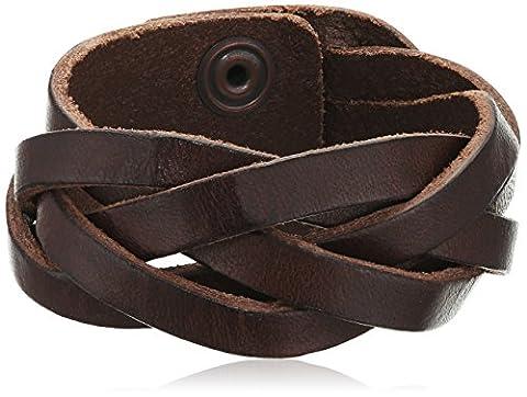 BOSS Orange Herren Armband Maxwell, Gr. One size, Braun (Dark Brown 201)
