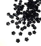 Angel Malone® 10g x 10mm schwarz Blume Semi Cup Pailletten, GR8Für alle Ihre Handwerk Projekte: Karte machen, Scrapbooking Nähen, Besätze, Tisch Konfetti, für Hochzeiten
