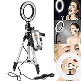 """Best Makeup Lights - leegoal Selfie Ring Light, 5.7"""" Led Camera Ring Review"""