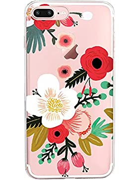 Funda Apple iPhone 8 Plus Transparente Gel Silicona TPU Protectora Carcasa Antideslizante Ultra Delgado Anti-Arañazos...