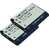 2 x Dot.Foto Batterie de qualité pour Kodak KLIC-7006, LB-012 - 3,7v / 740mAh - garantie de 2 ans - Kodak EasyShare M23, M200, M522, M530, M531, M532, M550, M552, M575, M577, M580, M583, M873, M883, M5350, M5370, MD30 / PixPro FZ51, FZ52, FZ53, FZ54, SL5
