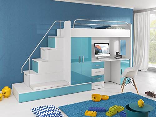 Etagenbett Mit Sofa Fantasy : ᑕ❶ᑐ hochbett mit treppe ▻ bestseller für ihr schlafparadies