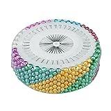 Lunghezza totale: 36mm, perla testa: 3mmContenuto della confezione: x 480pcs perni testa perlaElemento decorativo ideale per matrimoni, bridal bouquet, ecc.Perfetto per il cucito, artigianato, sartoria, ecc.