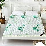Yellow star Studentenwohnheim Tatami matratze, Faltbare sitzkissen matten Gesteppte Bett Schutz Pad Futon matratze Topper Einzelne Größe Queen-Size-B 120x200cm(47x79inch)