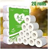 Rotoli di asciugamani di carta, rotoli nucleo vuoti che bianchi tovaglioli di carta tissue, 20 rotoli di carta igienica morbida, asciugamani di carta, carta igienica igienica asciugamani di carta
