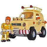 Simba 109251001 - Feuerwehrmann Sam Tom's, 4 x 4 Geländewagen, gelb