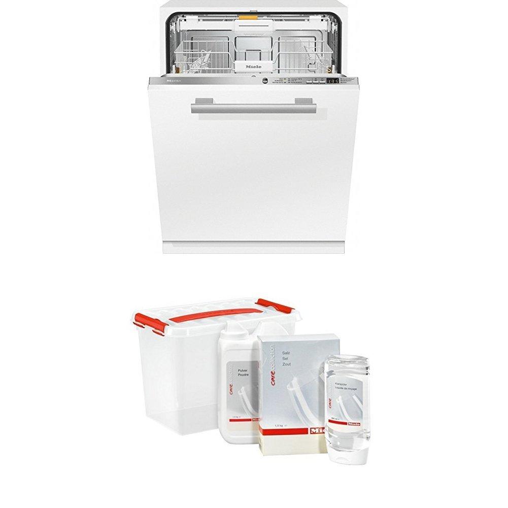 Miele G6260 SCVi D ED230 2,0 Geschirrspüler Vollintegriert + GSA Geschirrspülerzubehör / Starter-Paket bestehend aus 1,5 kg Regeneriersalz, 500 ml Klarspüler / Inklusive parktischer Aufbewahrungsbox