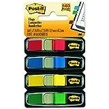 Mémos Post-It, «Sign and Date», couleurs assorties, 1,3cm de large, 30 par distributeur 140 Flags Assorted Primary Colors