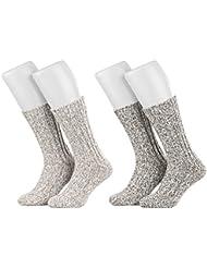 Piarini - Lot de 4 paires de chaussettes norvégiennes chaudes - unisexe - différents coloris