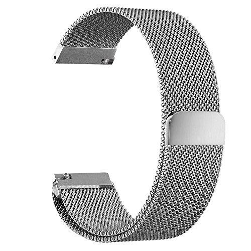 Pinhen 16mm Schnellspanner Magnet Milanaise Loop Edelstahl Ersatz Armband für Moto 3602Nd Gen Damen 42mm und Andere 16mm Breit Lug Uhren