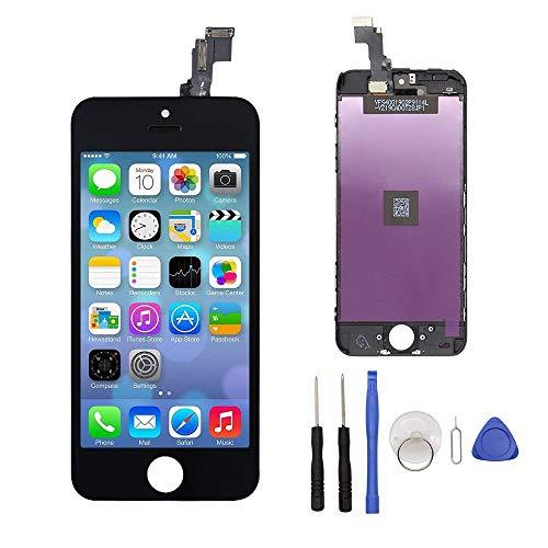 GEEKPLACE Écran LCD Display pour iPhone 5C, Écran LCD Écran Tactile LCD Écran De Remplacement pour iPhone 5C Kit De Réparation Ecran D'affichage avec Kit D'outils - Noir (4 Pouces) (iPhone 5C, Noir)