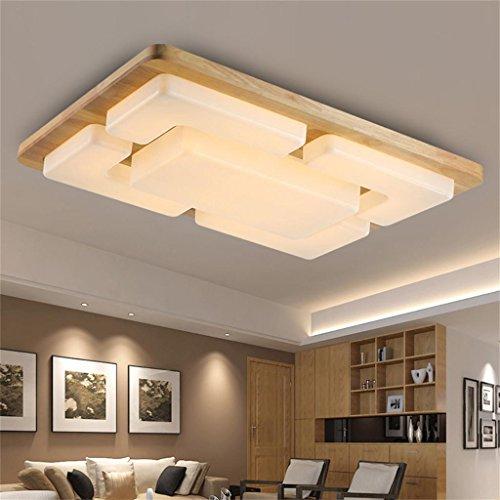 Moderne Chinesische Holz Schlafzimmer Gem¨¹tliches Wohnzimmer Rechteckigen  LED Deckentuch