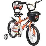 MAD MAXX Steel Kid's Single Speed Road Cycle, 16 inches (Neon Orange)