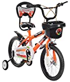 #5: MAD MAXX Steel Kid's Single Speed Road Cycle, 16 inches (Neon Orange)