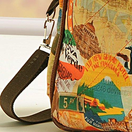 Yuga Printed Mode Schulter Handtaschen Designer-Frauen-Beutel mit Reißverschluss-Taschen Musturd