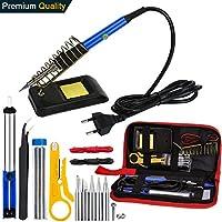 Soldador Electrónica de Estaño, Vanow Soldadores Estaño 220V 60W Temperatura Ajustable Kit Soldador, 5pcs