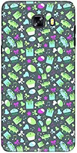The Racoon Lean printed designer hard back mobile phone case cover for Samsung Galaxy C9 Pro. (Cyan Happy)