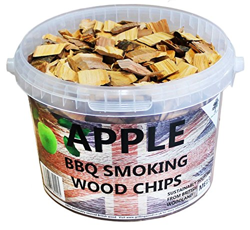 3 litres de copeaux de bois pour barbecue ou fumoir Apple vert pomme