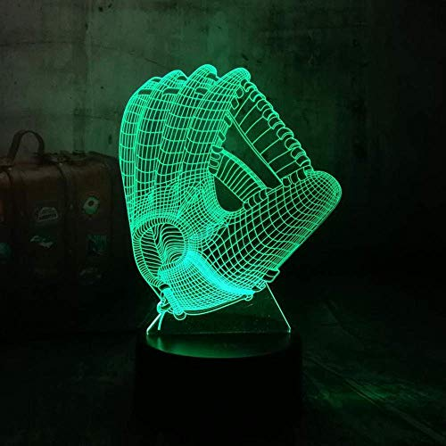 HYDYI-XYD Chrismas Baseball Team Logo New York Yankees Fans Nachtlampe 3D LED Nachtlicht Bunte Gradienten Atmosphäre Lampe Kind Geschenk