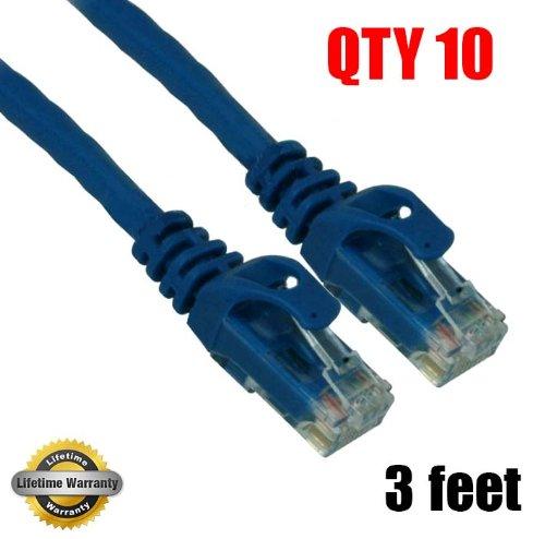 imbaprice 10Pack) CAT6Snagless Ethernet Kabel schwarz (Cat6 Patch Snagless Premium Kabel)