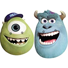 Monsters University TWIN PACK - Mike & Sulley - Card Face Mask - Licensed Product
