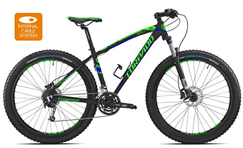 Torpado bici mtb jupiter 27,5'' plus alu 3x7v disco taglia 44 nero (MTB Ammortizzate) / bicycle mtb jupiter 27,5'' plus alu 3x7s disc size 44 black (MTB Front suspension)