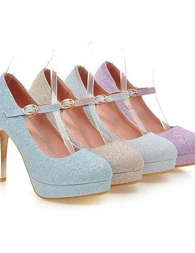 ShangYi Chaussures Femme - Mariage / Bureau & Travail / Soirée & Evénement - Bleu / Violet / Argent / Or - Talon Aiguille - Talons - Talons - Purple