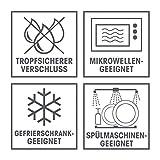 GOURMETmaxx 03310 Klick-It Frischhaltedosen | 72 Teiliges BPA freies Aufbewahrungsdosen-Set (36 Dosen und 36 Deckel) | Geeignet für Gefrierschrank, Mikrowelle, Spülmaschine | Multifunktionsboxen Lila/Pink/Türkis