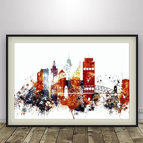 watercolor-sydney-print-sydney-poster-sydney-skyline-sydney-australia-sydney-cityscape-city-skyline-