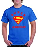 Camisetas divertidas Child Super Abuelo - para Hombre Camisetas Talla Medium Color Azul Royal