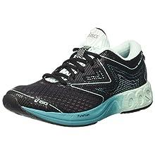ASICS Noosa Ff, Women's Running Running Shoes, Multicoloured (Black/Bay/Viridian Green), 6.5 UK (40 EU)