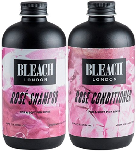 (2er-Pack) Bleach London Rose Shampoo x 250 ml & Bleach London Rose Conditioner x 250 ml Bleach London Rose
