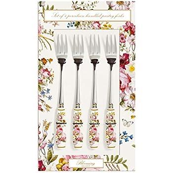 Easy Life 969DOC Coffret 4 Fourchettes G/âteaux Manche Rose 15,5 x 12,5 x 2,5 cm Acier