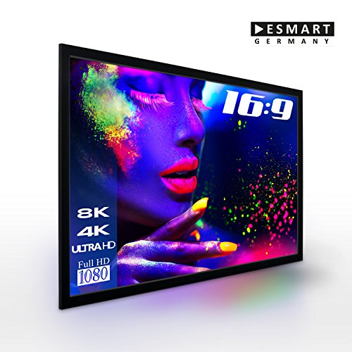 Cheapest 'eSmart Germany Mirale Frame Screen High Contrast Grey | Total Width 215cm Display Area/Picture Format 16: 9| with Solid Backing | 2015model 203x 114cm (92) on Line