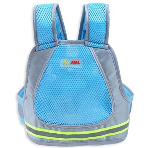 PYY Sicherheitsgurt für Kinder - Elektroauto Kindersitzgurt Fester Gurt Verstellgurt für Zweirad-Fahrradgürtel mit dicken Gurt,bluenet