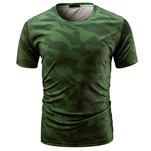 GreatestPAK T-Shirt Sport Gym Tops Shirt Herren Camouflage Print Rundhalsausschnitt Pullover - Supernatural-socken