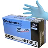 500 x BODYGUARDS 4 BLUE NITRILE LARGE POWDER FREE DISPOSABLE GLOVES 8953