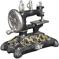 GLOBEAGLE Figura Decorativa en Miniatura de máquina de Coser de Resina Negra Retro