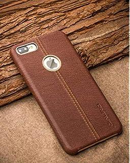 ikazen Vorson Double Stitch Leather Shell Back Case Cover Apple iPhone 7 Plus / 7Plus   Brown
