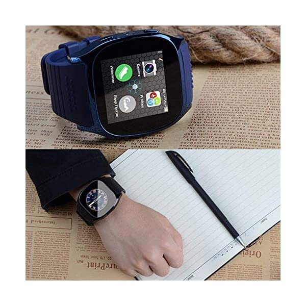 CanMixs Smartwatch CF02 es compatible con la tarjeta SIM Reloj de pulsera TF con cámara Podómetro Sleep Monitor Message Sync notifica el reproductor de música sedentaria para el teléfono Android IOS 8