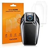 kwmobile 3X Schutzfolie für BMW Display Key Autoschlüssel - Transparente TPU Auto Schlüssel Displayschutzfolie - Klare Fahrzeugschlüssel Folie